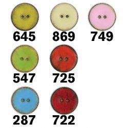 Knoop Kokos 2-gaats Bast Gekleurd Mat