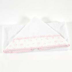 DMC Baby Stars badcape roze 82x78cm RS2629-ROZE