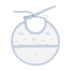 DMC Baby Stars geboorte slabbetje 21x19cm blauw  RS2624-BLAUW