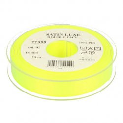 Satijn Luxe  Double Face band - Lint geel 0001