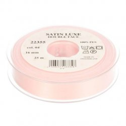 Satijn Luxe Double Face band - Lint roze 0004