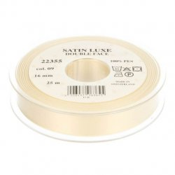 Satijn Luxe  Double Face band - Lint Creme 0009