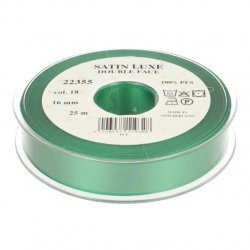 Satijn Luxe Double Face band - Lint Groen 0018
