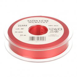 Satijn Luxe  Double Face band - Lint Rood 0020