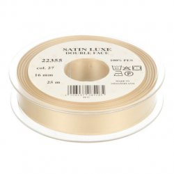 Satijn Luxe  Double Face band - Lint Beige 027