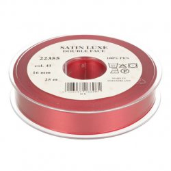 Satijn Luxe  Double Face band - Lint Rood 0041