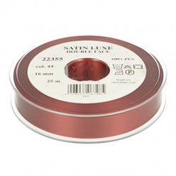 Satijn Luxe  Double Face band - Lint Rood 0044