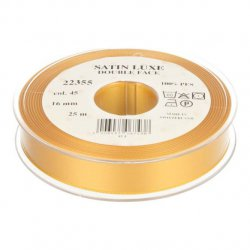 Satijn Luxe  Double Face band - Lint geel 0045