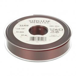 Satijn Luxe  Double Face band - Lint Rood 0064