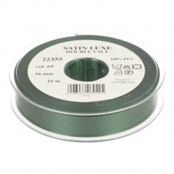 Satijn Luxe  Double Face band - Lint Groen 0069