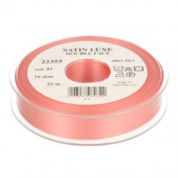 Satijn Luxe  Double Face band - Lint Roze 0081