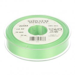 Satijn Luxe  Double Face band - Lint Groen 0084