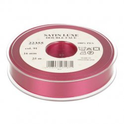 Satijn Luxe  Double Face band - Lint Roze 0091