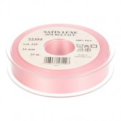 Satijn Luxe Double Face band - Lint Roze 0225