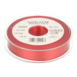 Satijn Luxe Double Face band - Lint Rood 0331