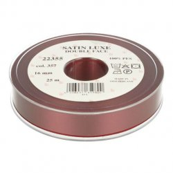 Satijn Luxe Double Face band - Lint Rood 0357