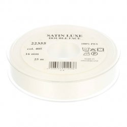 Satijn Luxe  Double Face band - Lint Ecru 0405