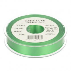Satijn Luxe Double Face band - Lint Groen 0435