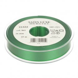 Satijn Luxe Double Face band - Lint Groen 0861