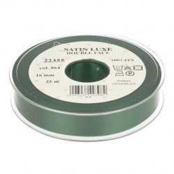 Satijn Luxe Double Face band - Lint Groen 0864