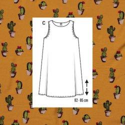 Viscose met Cactussen 11229