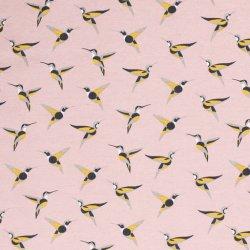 Ottoman met vogels 01465 roze 012