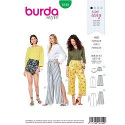 Burda 6199 Broeken Jonge mode