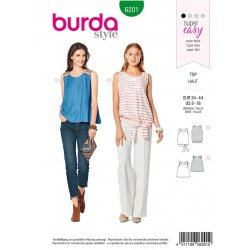 Burda 6201 Tops Jonge mode