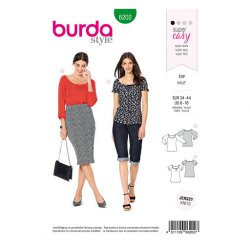Burda 6202 Shirts Jonge mode