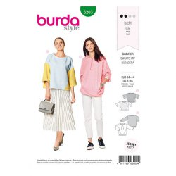 Burda 6203 Sweater Jonge mode