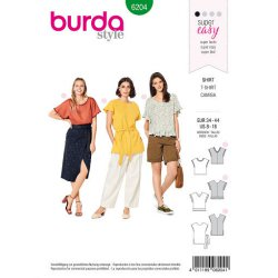 Burda 6204 Blouse Shirt Jonge mode