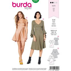 Burda 6205 Jurkjes Jonge mode