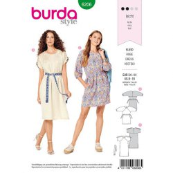 Burda 6206 Jurkjes Jonge mode