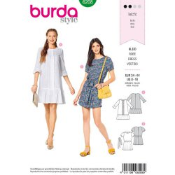 Burda 6208 Jurkjes Jonge mode