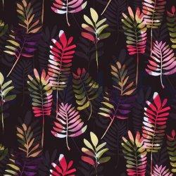 Canvas Grote Bladeren 07405 zwart 001