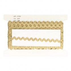Zig-zag band goud - 7mm
