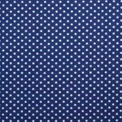 Poplin Katoen met Stippen 05570 Kobalt 005