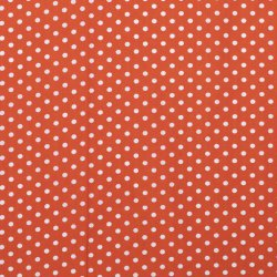Poplin Katoen met Stippen 05570 Oranje 036