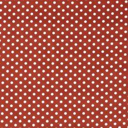 Poplin Katoen met Stippen 05570 Roestbruin 056