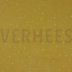 Baby Katoen Hydrofiel Mousseline DOUBLE GAUZE FOIL STRIPES 07261 oker 002