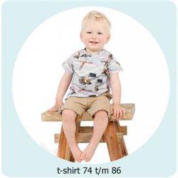 Patroon T-shirt maat 50 t/m 68 056.ADIY15