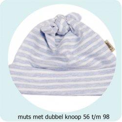 Patroon Muts met dubbele knoop maat 56 t/m 98 056.ADIY43