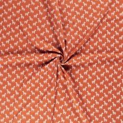 Mousseline Baby Katoen Hydrofiel Zebra 13051brique 156