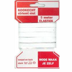 Rode kaart elastiek 10mm - 5m in wit of zwart