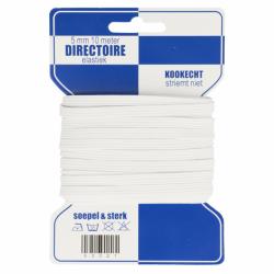 Blauwe kaart directoire elastiek 10mm - 5m in wit of zwart