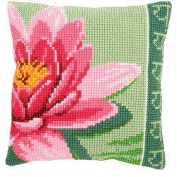 Kruissteekkussen kit Roze lotusbloem pn-0156008