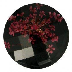 Knoop bloem maat 40 - 25.00mm rood zwart
