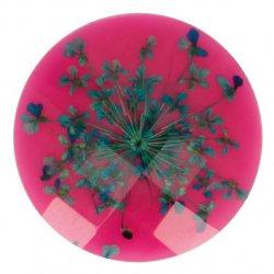 Knoop bloem maat 40 - 25.00mm Groen Roze 786