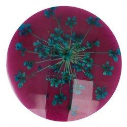 Knoop bloem maat 40 - 25.00mm Groen Paars 793