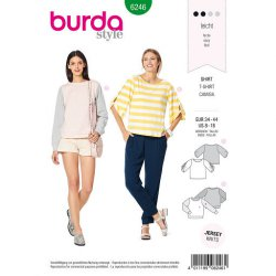 Burda 6246 Shirt van jersey of jogging